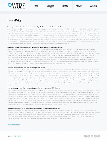 Template 37103 ( Privacy Policy Page ) ADOBE Photoshop Screenshot