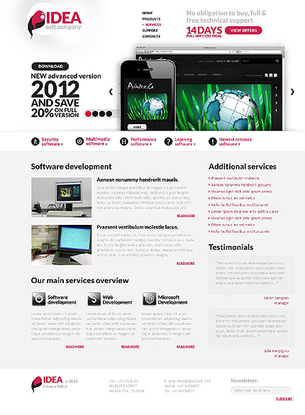 Template 37105 ( Services Page ) ADOBE Photoshop Screenshot