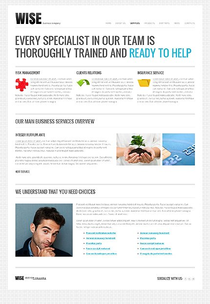 Template 37107 ( Services Page ) ADOBE Photoshop Screenshot