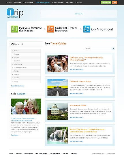 Template 37108 ( Free Travel Guides Page ) ADOBE Photoshop Screenshot