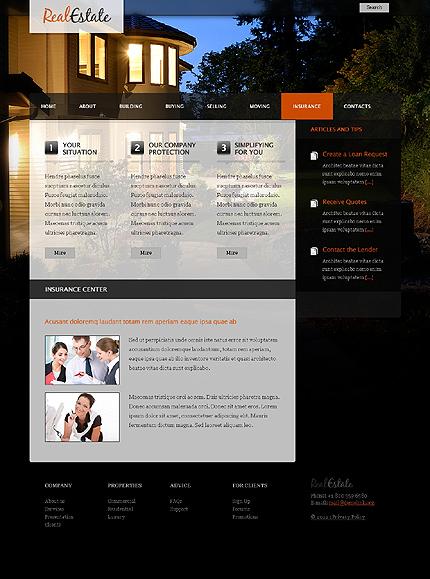 Template 37109 ( Insurance Page ) ADOBE Photoshop Screenshot
