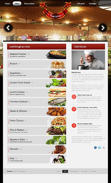 Template 37110 ( Menu Page ) ADOBE Photoshop Screenshot