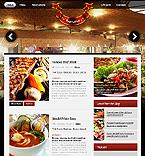 Cafe & Restaurant Website  Template 37110