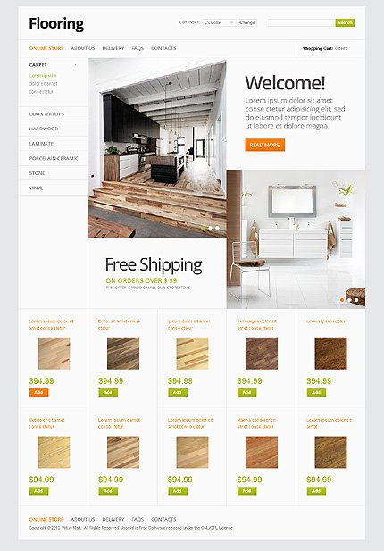 ADOBE Photoshop Template 37125 Home Page Screenshot
