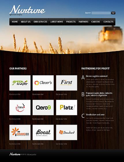 Template 37133 ( Partners Page ) ADOBE Photoshop Screenshot