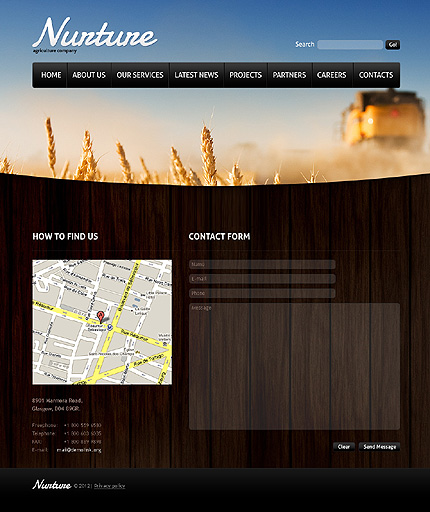 Template 37133 ( Contacts Page ) ADOBE Photoshop Screenshot