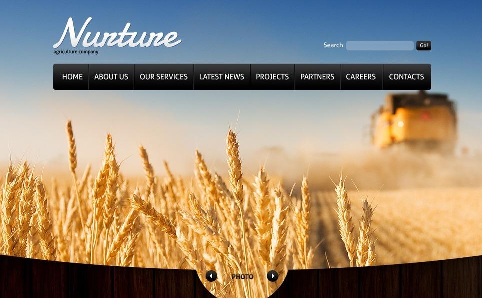 Plantilla Web #37133 para Sitio de Agricultura New Screenshots BIG