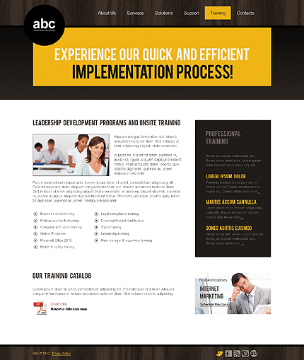Template 37140 ( Training Page ) ADOBE Photoshop Screenshot