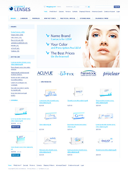 osCommerce Template 37145 Main Page Screenshot