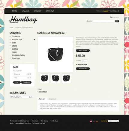 ADOBE Photoshop Template 37153 Home Page Screenshot