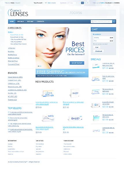 ADOBE Photoshop Template 37155 Home Page Screenshot