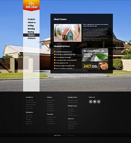 Template 37157 ( Finance Page ) ADOBE Photoshop Screenshot
