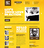 Charity Website  Template 37158