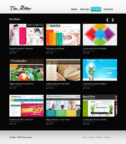 Template 37161 ( Portfolio Page ) ADOBE Photoshop Screenshot