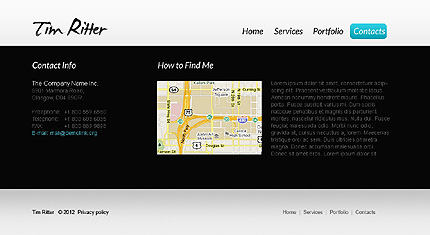 Template 37161 ( Contacts Page ) ADOBE Photoshop Screenshot