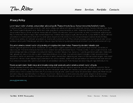 Template 37161 ( Privacy Policy Page ) ADOBE Photoshop Screenshot