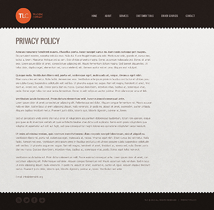 Template 37163 ( Privacy Policy Page ) ADOBE Photoshop Screenshot