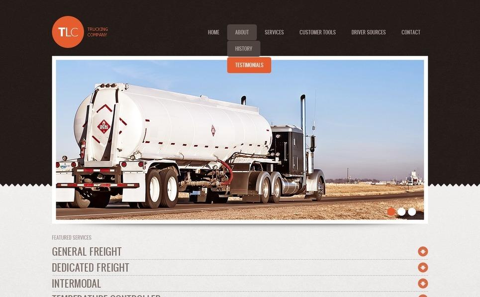 Template Web para Sites de Caminhão №37163 New Screenshots BIG