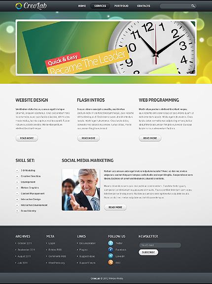 Template 37166 ( Services Page ) ADOBE Photoshop Screenshot