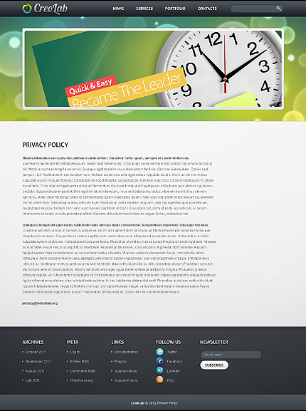 Template 37166 ( Privacy Policy Page ) ADOBE Photoshop Screenshot