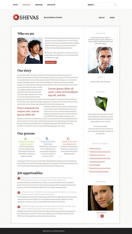 Template 37173 ( Company Page ) ADOBE Photoshop Screenshot