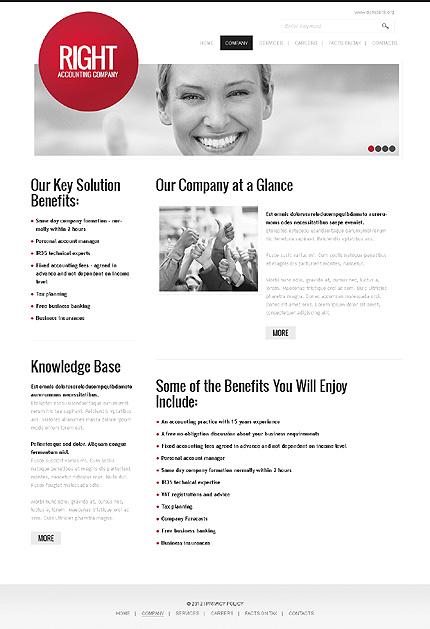 Template 37175 ( Company Page ) ADOBE Photoshop Screenshot