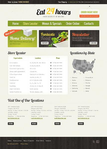 Template 37187 ( Store Locator Page ) ADOBE Photoshop Screenshot