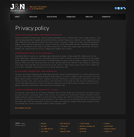 Template 37189 ( Privacy Policy Page ) ADOBE Photoshop Screenshot
