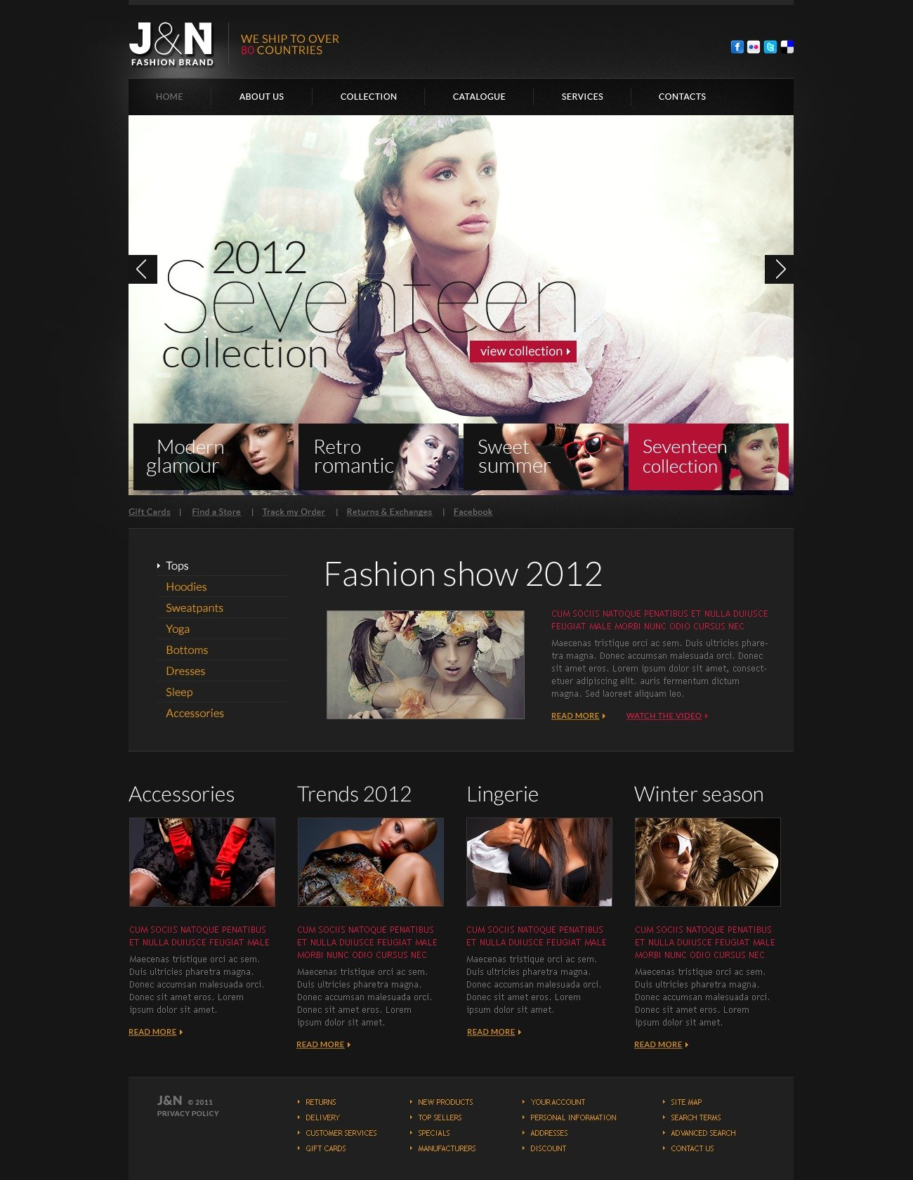 fashion products website template 37189 by wt website templates. Black Bedroom Furniture Sets. Home Design Ideas