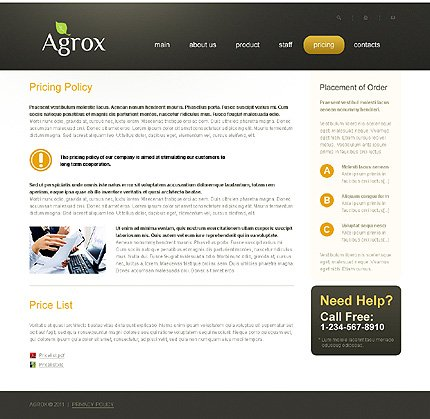 Template 37198 ( Pricing Page ) ADOBE Photoshop Screenshot