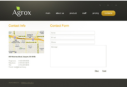 Template 37198 ( Contacts Page ) ADOBE Photoshop Screenshot