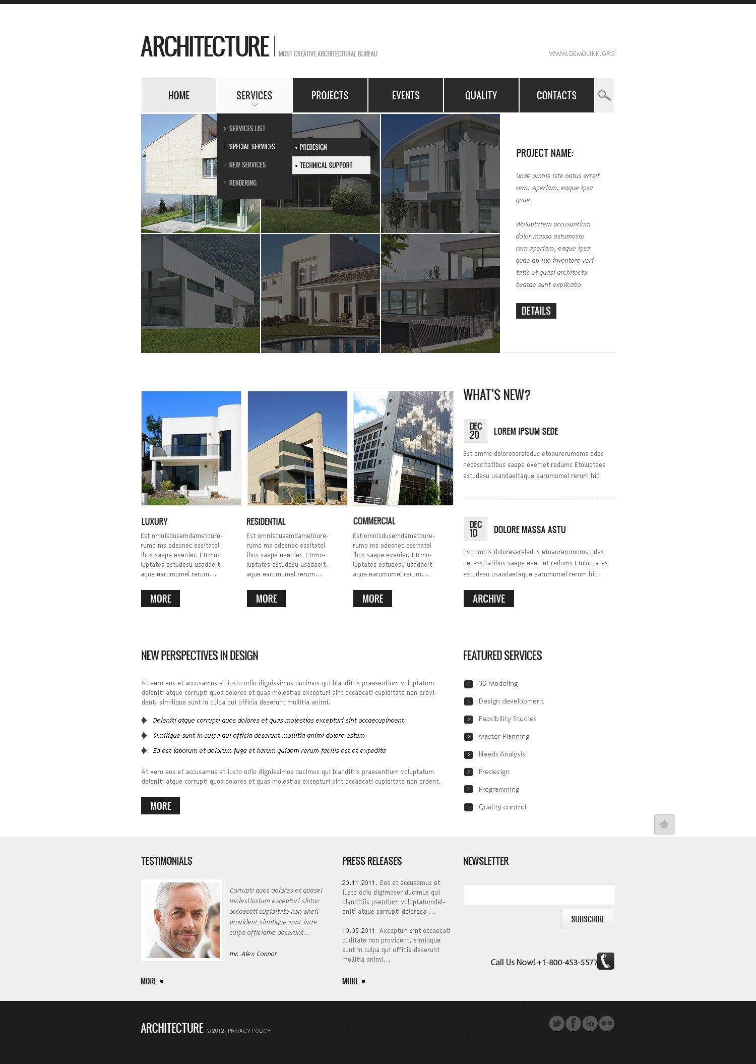Architecture Drupal Template - screenshot