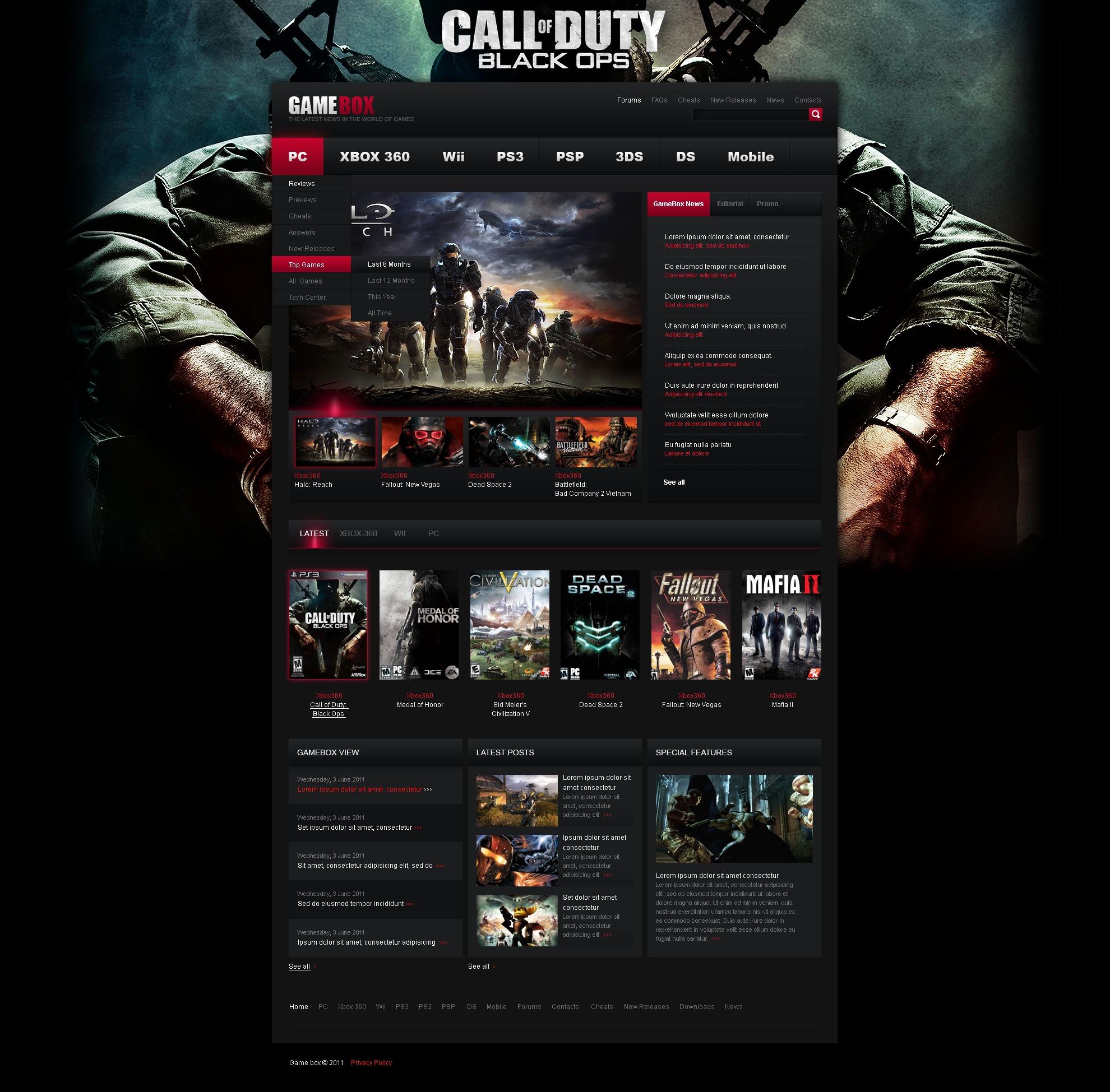 Motyw WordPress #37120 na temat: portal gier - zrzut ekranu