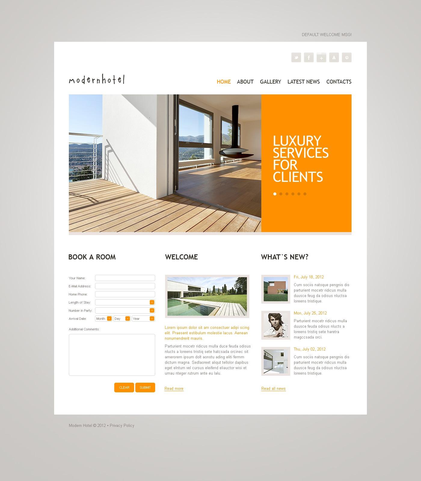 Tema De WordPress #37176 para Sitio de Hoteles - captura de pantalla