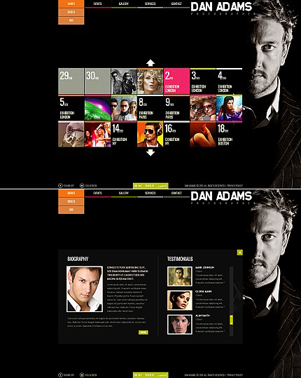 ADOBE Photoshop Template 37204 Home Page Screenshot