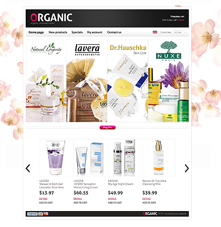 osCommerce Template 37208 Main Page Screenshot