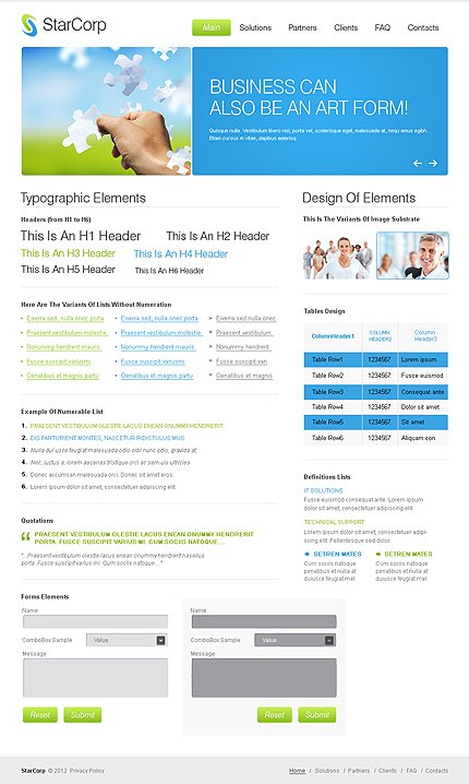 ADOBE Photoshop Template 37209 Home Page Screenshot