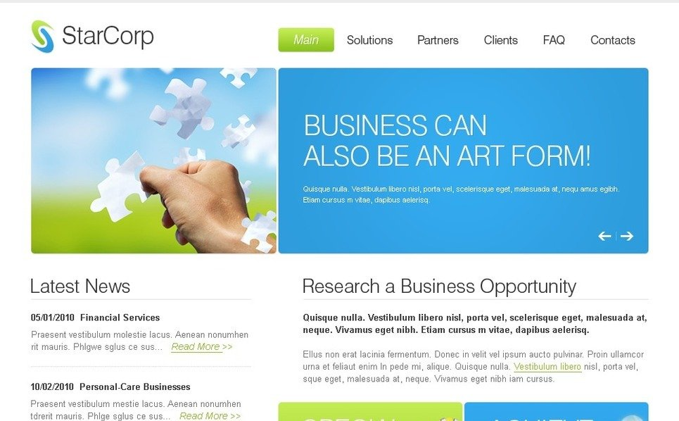 Tema PSD  #37209 per Un Sito di Business e Servizi New Screenshots BIG