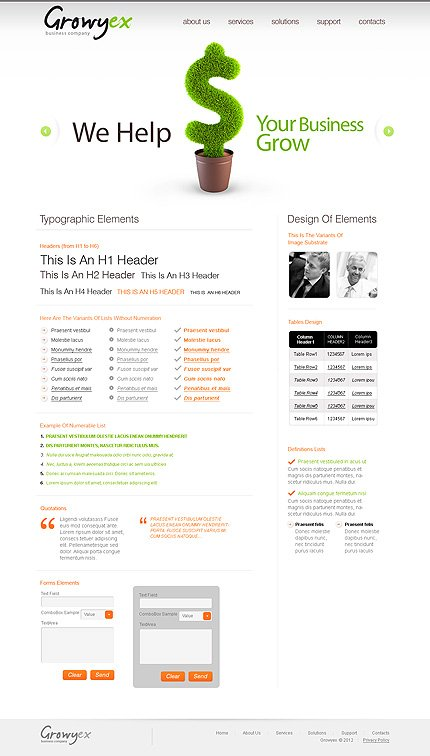 ADOBE Photoshop Template 37210 Home Page Screenshot