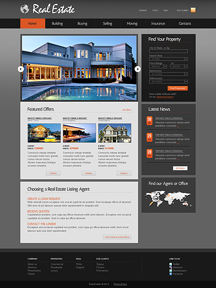 ADOBE Photoshop Template 37211 Home Page Screenshot
