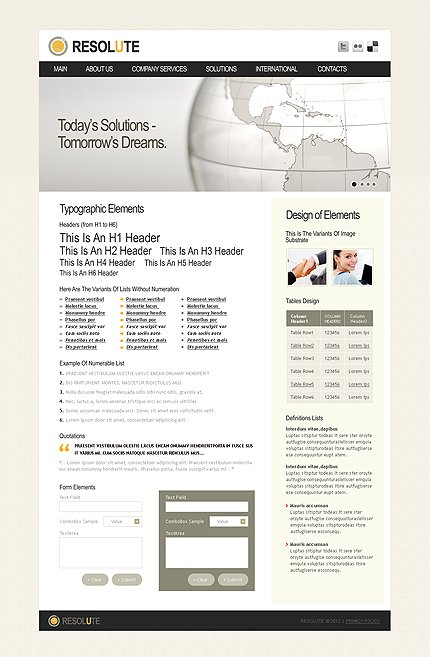 ADOBE Photoshop Template 37214 Home Page Screenshot
