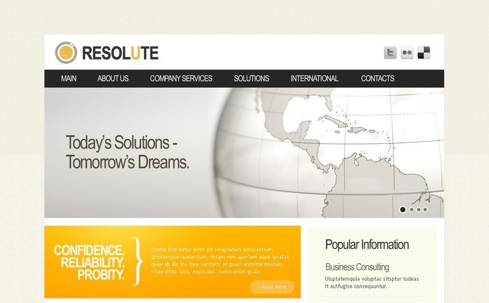 Modello PSD  #37214 per Un Sito di Business e Servizi New Screenshots BIG