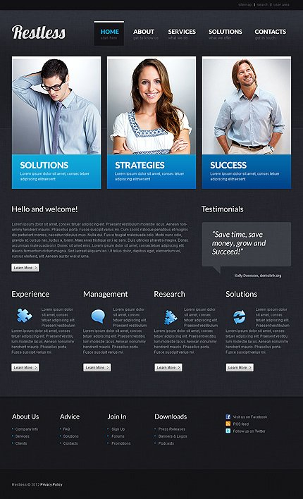 ADOBE Photoshop Template 37215 Home Page Screenshot
