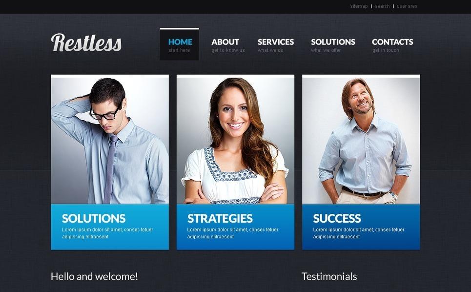 Plantilla PSD #37215 para Sitio de Negocio y Servicios New Screenshots BIG