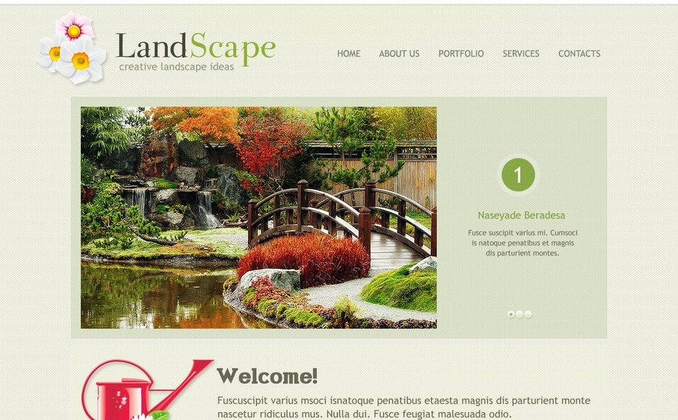 Website template over Landschapsontwerp  New Screenshots BIG