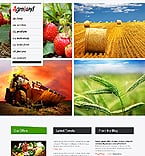 Agriculture Website  Template 37230