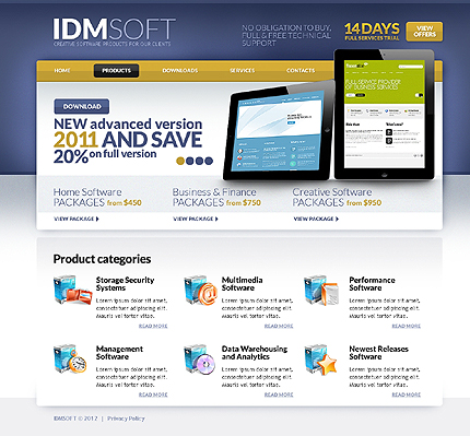 Template 37256 ( Products Page ) ADOBE Photoshop Screenshot