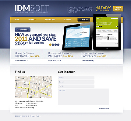 Template 37256 ( Contacts Page ) ADOBE Photoshop Screenshot