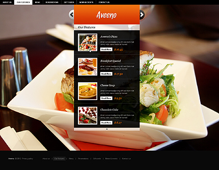 Template 37260 ( Our Features Page ) ADOBE Photoshop Screenshot