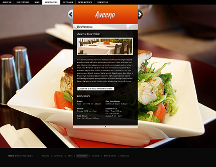 Template 37260 ( Reservations Page ) ADOBE Photoshop Screenshot